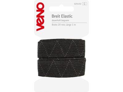 Breit Elastic SB 20mm x 1m Coupon - schwarz
