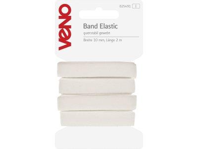 Elastic Band querstabil gewebt 10mm x 2m Coupon - weiß
