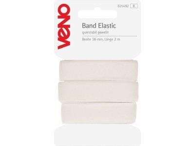 Elastic Band querstabil gewebt 15mm x 2m Coupon - weiß