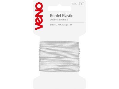Elastic Kordel 1mm x 3m Coupon SB - weiß