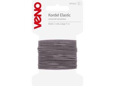 Elastic Kordel 1mm x 3m Coupon SB - hellgrau