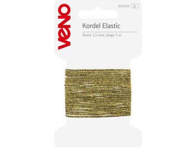 Elastic Kordel SB 1,5mm x 3m Coupon - goldfarben