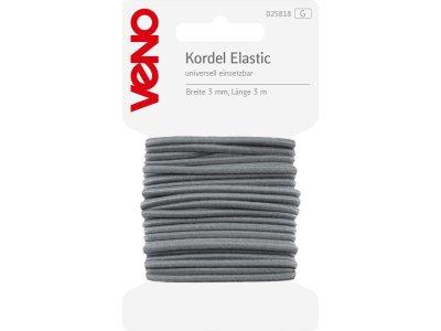 Elastic Kordel SB 3mm x 3m Coupon - grau