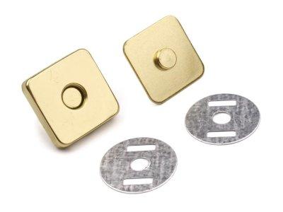 Magnetverschluss 4 Stk. 18 x 18 mm rechteckig - gold