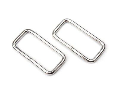 Taschenschlaufen vierkantig 39 mm 4 Stück - nickel