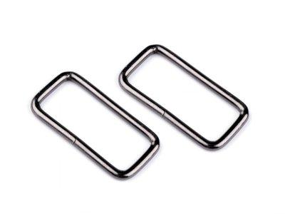 Taschenschlaufen vierkantig 32 mm 4 Stück - nickel schwarz