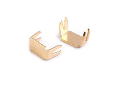 Endstücke für Reißverschlüsse 3 mm - 10 Stück - gold
