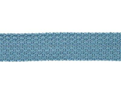 Einfasstresse Wolle 32 mm - Wellenmuster - jeansblau