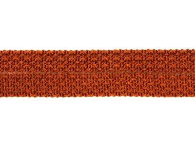 Einfasstresse Wolle 32 mm - Wellenmuster - dunkles orange