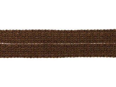 Einfasstresse Wolle 32 mm - Wellenmuster - braun