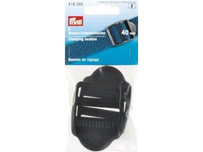 Prym 2 Klemm-Leiterschnallen 40mm - schwarz