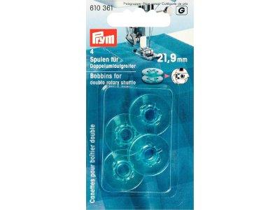 Prym 4 Nähmaschinen-Spulen für Doppel-Umlaufgreifer 21,9mm
