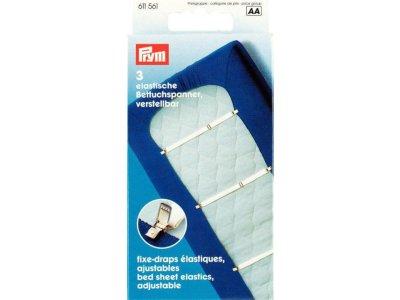 Prym 3 Betttuchspanner Elastic 18 mm max.1,40m - weiß