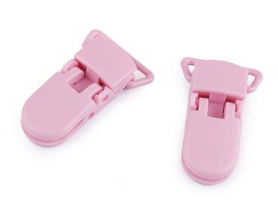 Namensschildhalter/Clip 20 mm 2 Stück - rosa
