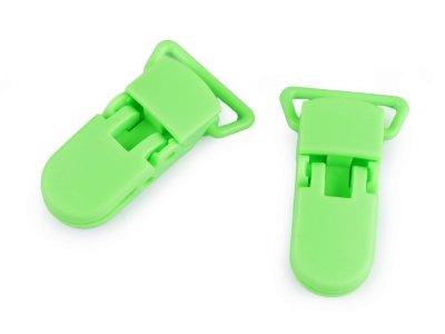 Namensschildhalter/Clip 20 mm 2 Stück - lime