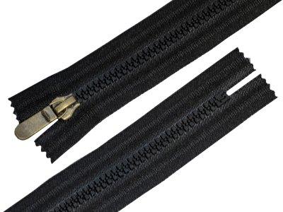 Reißverschluss Opti teilbar 17 cm - schwarz