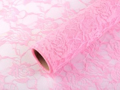 Spitze auf Rolle 1Stk/4m - Blumen - rosa
