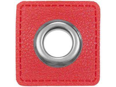 Ösen Patches für Kordeln VENO Lederimitat rot