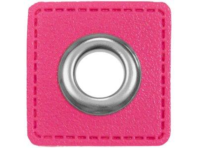 Ösen Patches für Kordeln VENO Lederimitat pink