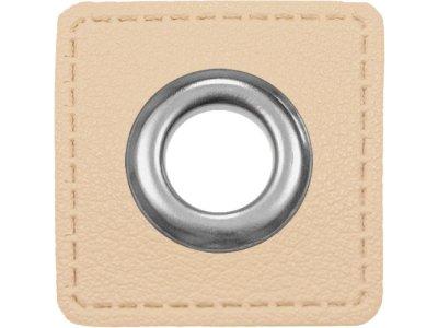 Ösen Patches für Kordeln VENO Lederimitat metallic creme