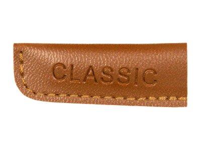 Kordelenden Lederimitat Classic groß - braun