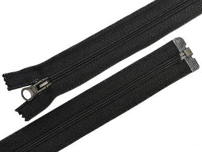 Reißverschluss  teilbar 50 cm - schwarz
