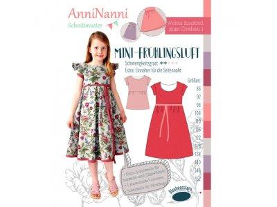 Papierschnittmuster Blaubeerstern AnniNanni Kleid MINI-FRÜHLINGSLUFT - Mädchen