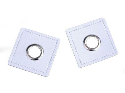 Aufnäh-Ösen auf Kunstleder 8mm 4 Stück - uni weiß