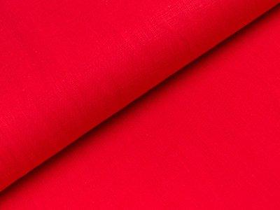 Elastischer Leinenstoff - uni rot