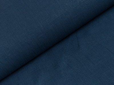 Elastischer Leinenstoff - uni dunkles jeansblau