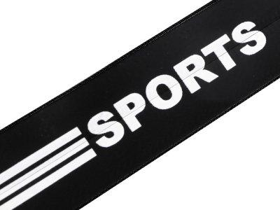Reißverschluss wasserdicht - 7 mm x 20 cm - Sports-Streifen - schwarz