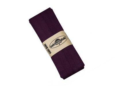 Jersey Schrägband Oaki doki gefalzt 20 mm x 3 m - bordeaux
