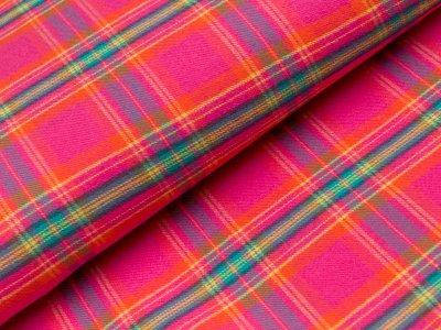 Flanell Baumwollstoff - Karomuster - pink