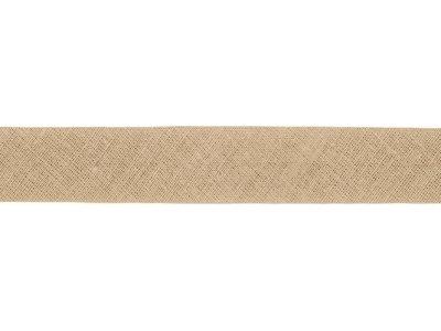 Hochwertiges Schrägband Baumwolle gefalzt 20 mm - uni helles khaki