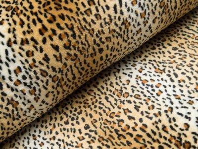 Wellnessfleece - Animalprint Leo - beige/orange