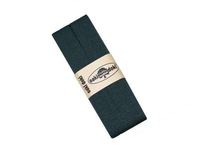 Jersey Schrägband Oaki doki gefalzt 20 mm x 3 m - dunkles grün