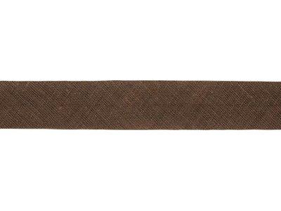 Hochwertiges Schrägband Baumwolle gefalzt 20 mm - uni braun