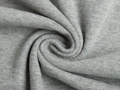 Glattes Bündchen im Schlauch meliert - helles grau