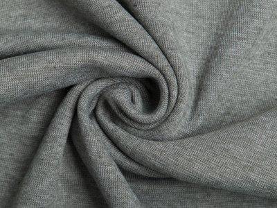 Glattes Bündchen im Schlauch meliert - dunkles grau