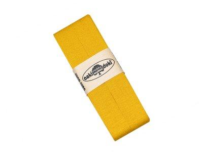 Jersey Schrägband Oaki doki gefalzt 20 mm x 3 m - ocker