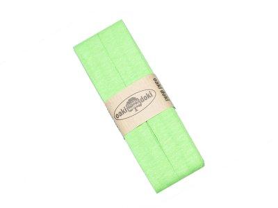 Jersey Schrägband Oaki doki gefalzt 20 mm x 3 m - meliert neongrün
