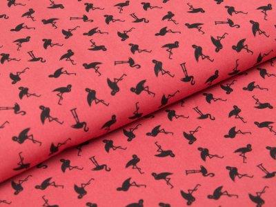 Webware Baumwolle - Flamingos - rostrot