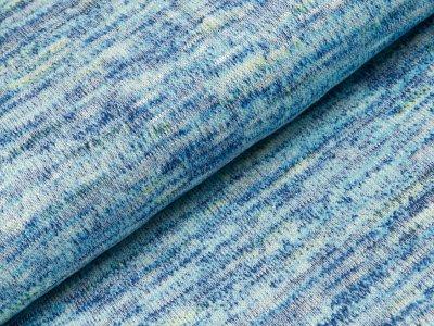 Viskose Strick-Jersey - meliert blau
