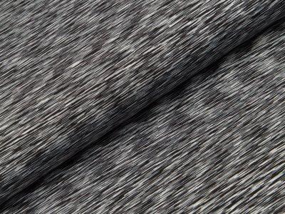 Sportlycra  - meliert schwarz/weiß