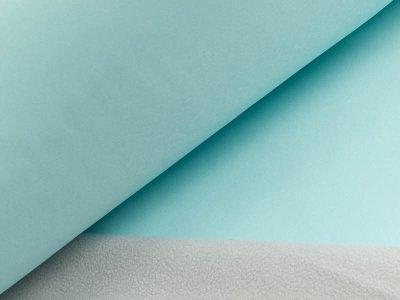 Jackenstoff Softshell - aqua/helles grau