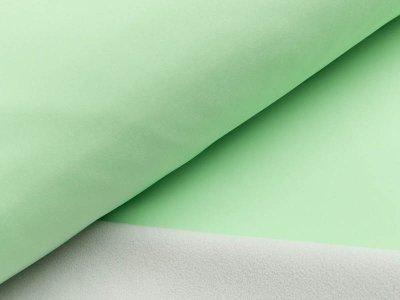 Jackenstoff Softshell - pistazie/helles grau