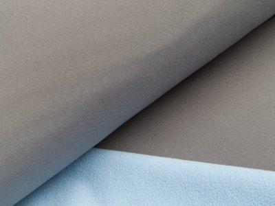 Jackenstoff Softshell - grau/helles blau