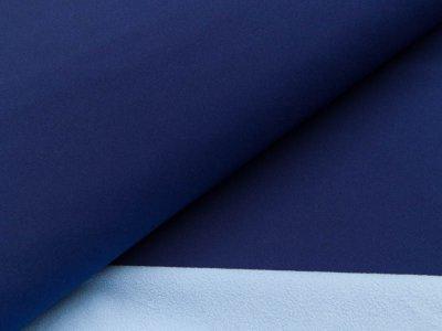 Jackenstoff Softshell - dunkles blau/helles blau