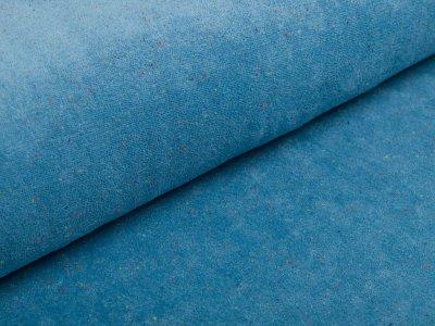 Frotteejersey Milliblu´s - bunte Sprenkel - blau