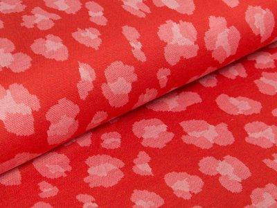 Jersey Jacquard Milliblu´s - abstrakte Blüten - rot